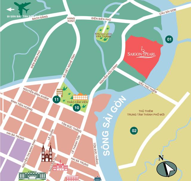 Dự án căn hộ Saigon Pearl căn hộ tiện nghi đường rộng rãi